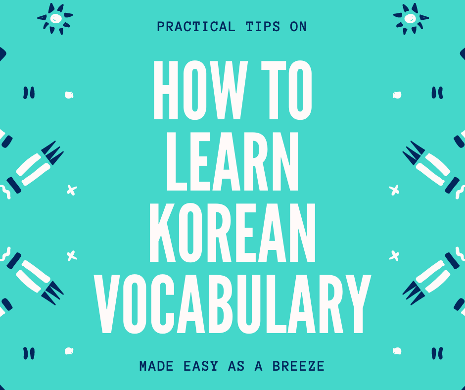 How to learn Korean vocabulary