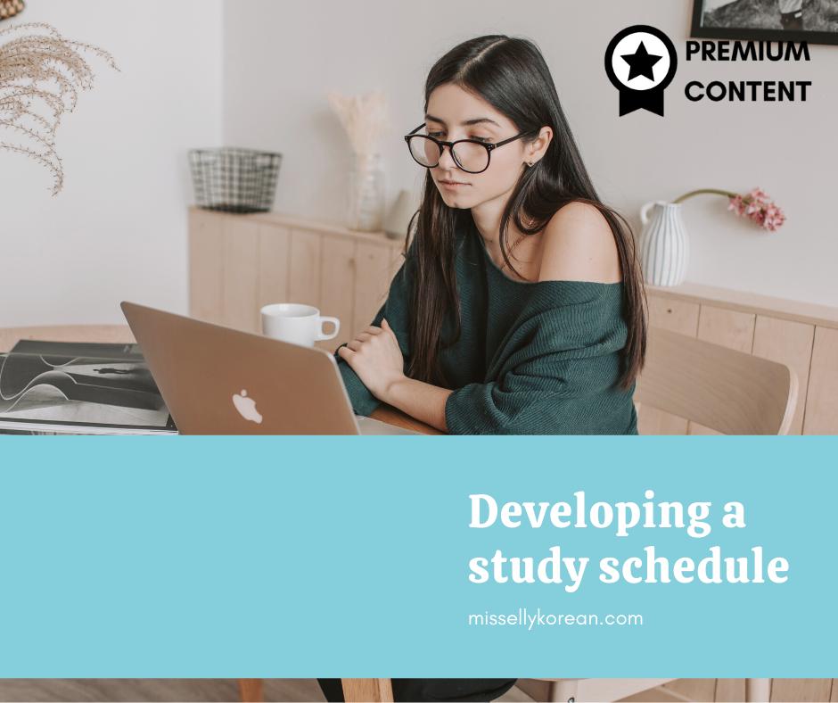 Developing a Korean study schedule